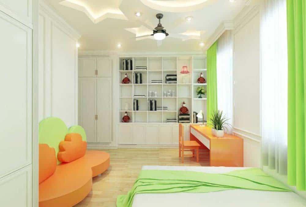 Phòng ngủ cho bé gái tiện nghi