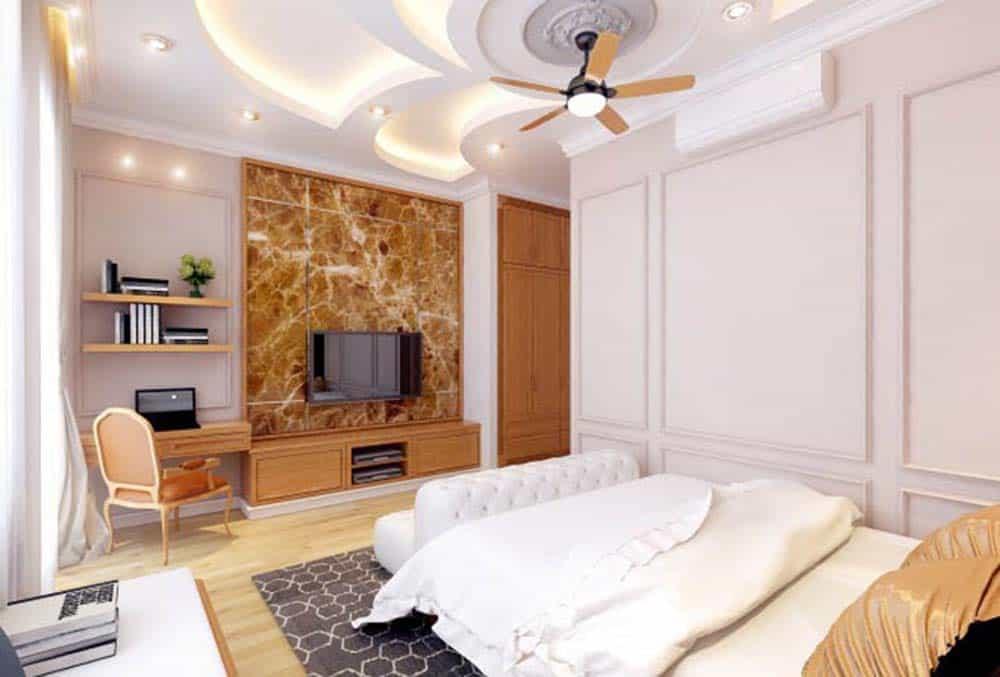 Phòng ngủ Master của nhà ống tầng hầm