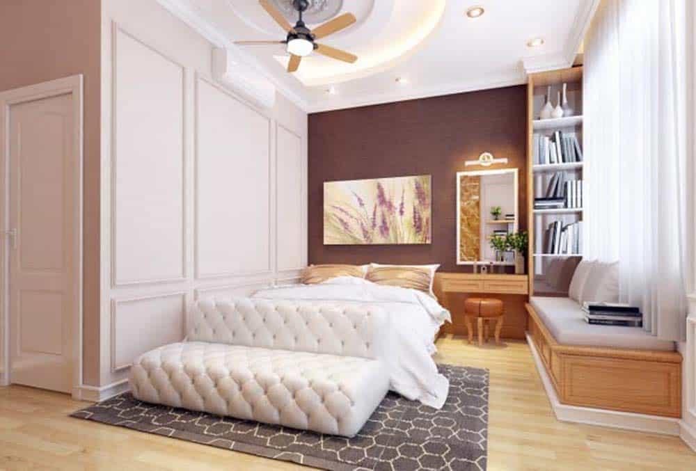 Phòng ngủ sang trọng phong cách tân cổ điển