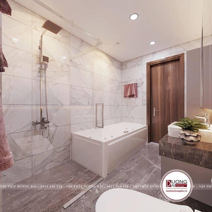 Màu sắc và chất liệu gạch được KTS tư vấn và lựa chọn kĩ theo sở thích của gia chủ.