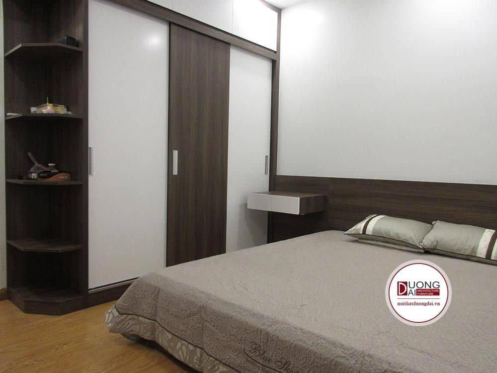 Phòng ngủ với chất liệu gỗ công nghiệp An Cường.