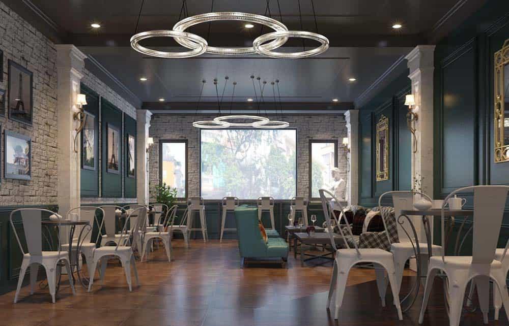 Thiết kế quán cafe theo phong cách tân cổ điển