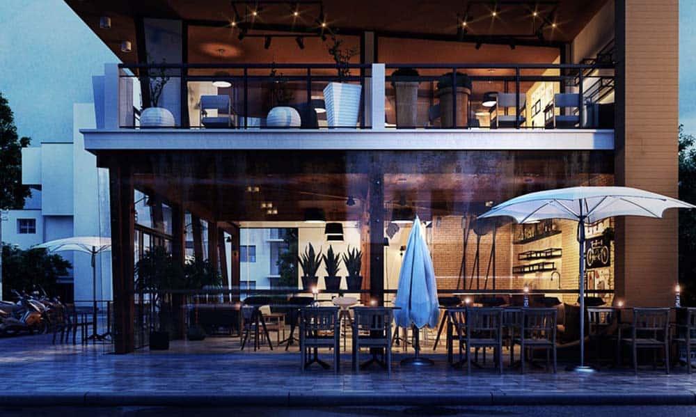 Quán cafe 2 mặt tiền 2 tầng đẳng cấp