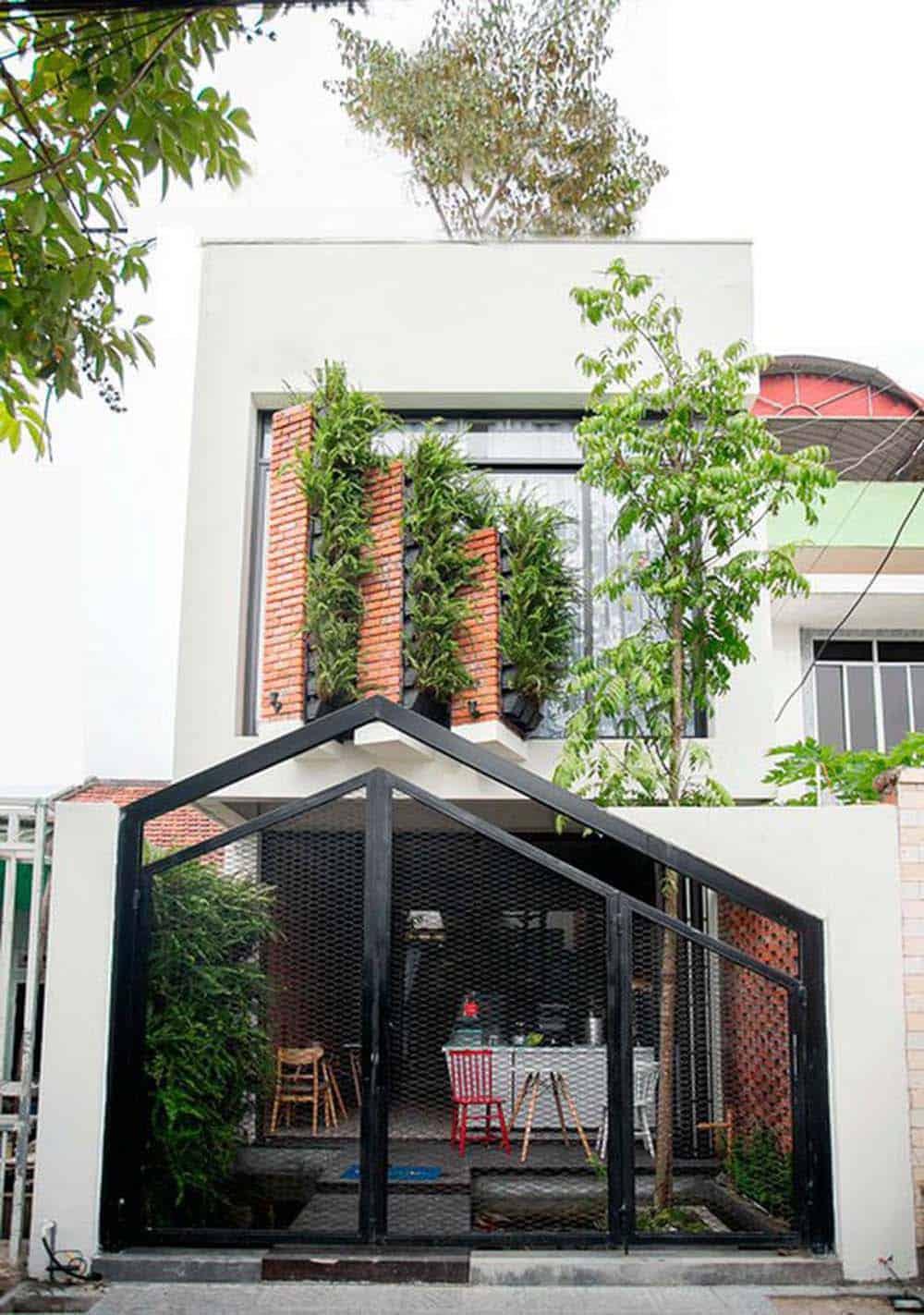 Nhà ống kết hợp kinh doanh cafe không gian mở