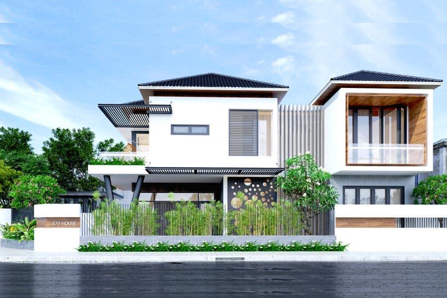 Ngôi nhà 2 tầng 500 triệu kết hợp không gian xanh mát