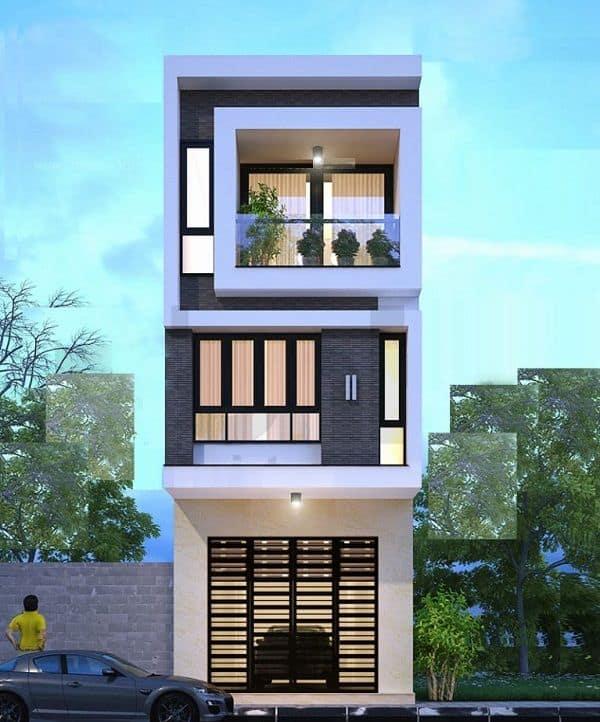 Mặc dù mặt tiền khá rộng rãi nhưng chủ nhà vẫn áp dụng kiến trúc lệch tầng