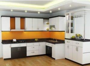 Tủ bếp HDF chống ẩm sơn bệt