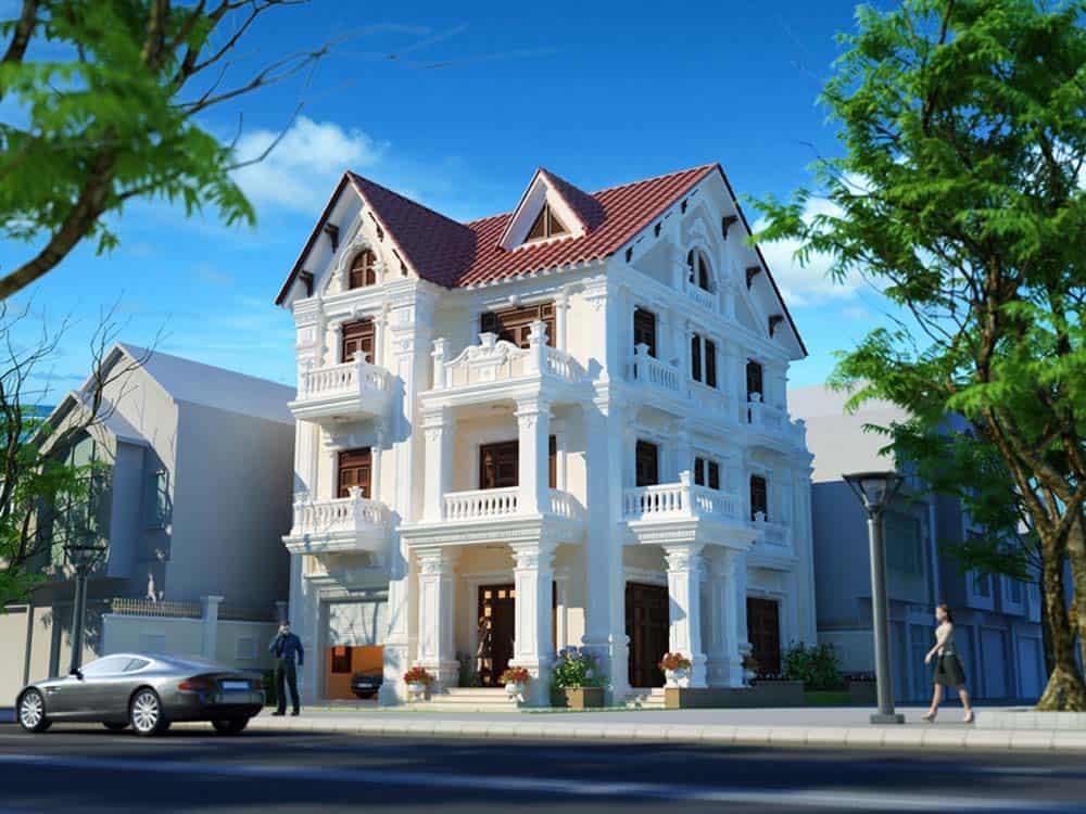 Thiết kế nhà mái thái phong cách tân cổ điển