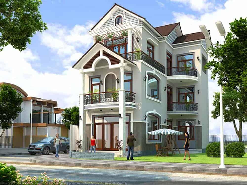 Mẫu nhà 3 tầng mái thái siêu đẹp và đẳng cấp