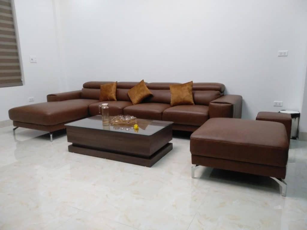 Sofa Da Giá Rẻ | Bàn Giao Chú Vinh Ở Hải Dương