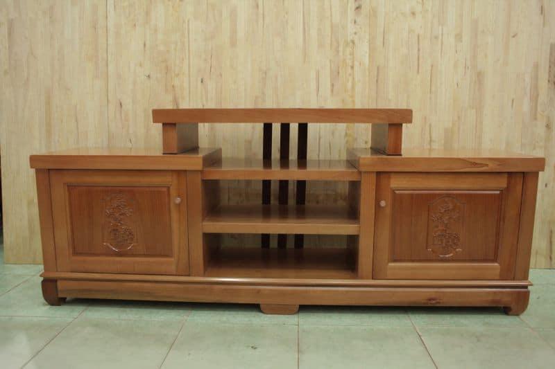Tủ kệ tivi gỗ tự nhiên cho phòng khách nhỏ