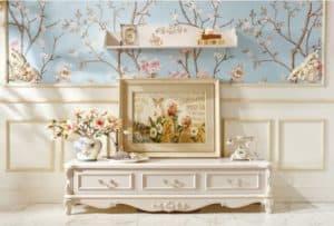 Tủ gỗ phòng khách đẹp, sang trọng