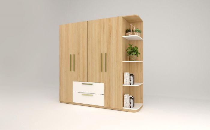 Tủ gỗ công nghiệm màu vân gỗ