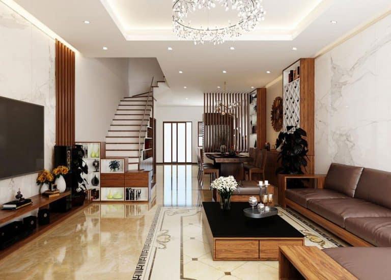 Phối cảnh nội thất nhà mái thái 700 triệu