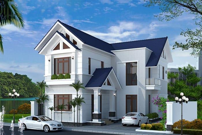 Phối cảnh chi tiết nhà mái thái 700 triệu phần nội ngoại thất