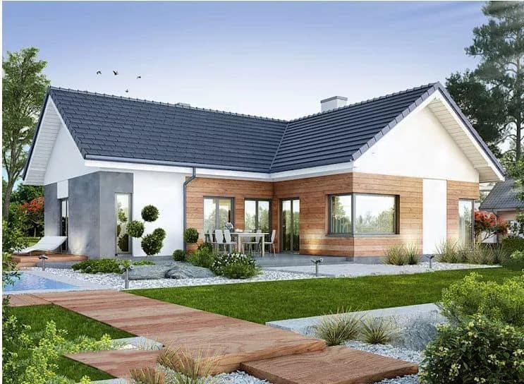 Nhà mái thái 150m2 kết hợp sân vườn