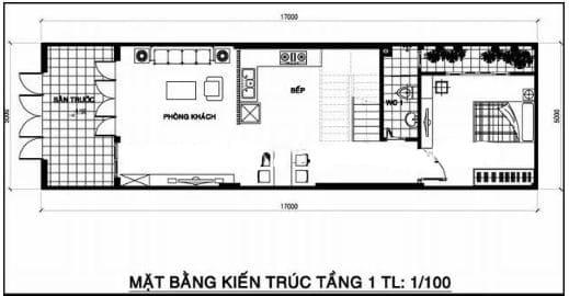 Nhà Ống 2 Tầng 1 Tum 3 Phòng Ngủ Vừa Thoáng Vừa Tiện Nghi