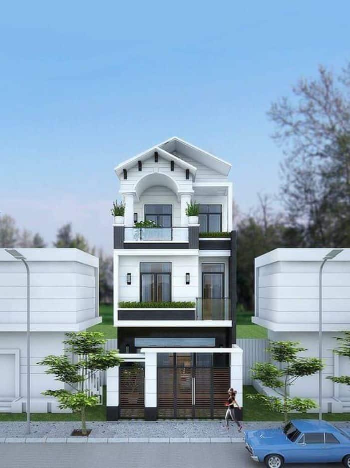 Nhà Ống 3 Tầng Mái Thái | 10+Mẫu Nhà 3 Tầng Đẹp Nhất