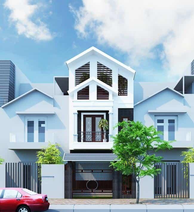 Ngôi nhà nổi bật nhờ cách phối gam màu trắng trang nhã