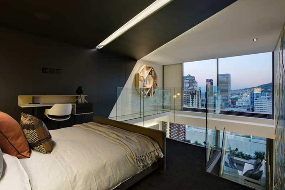 Phòng ngủ có tầm nhìn ra cảnh thành phố trên cao