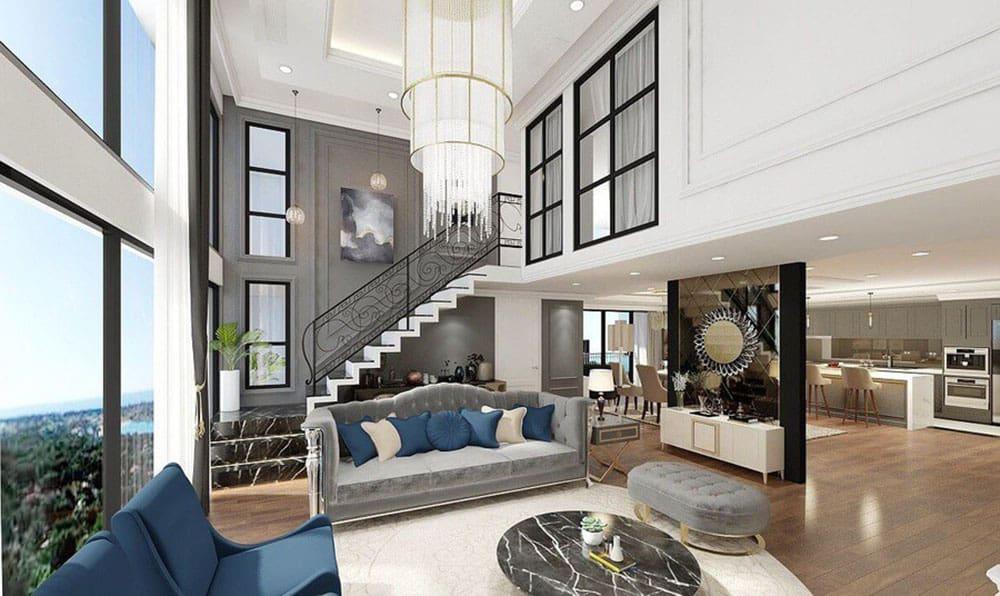 Thiết kế căn hộ Duplex siêu đẹp cho giới thượng lưu