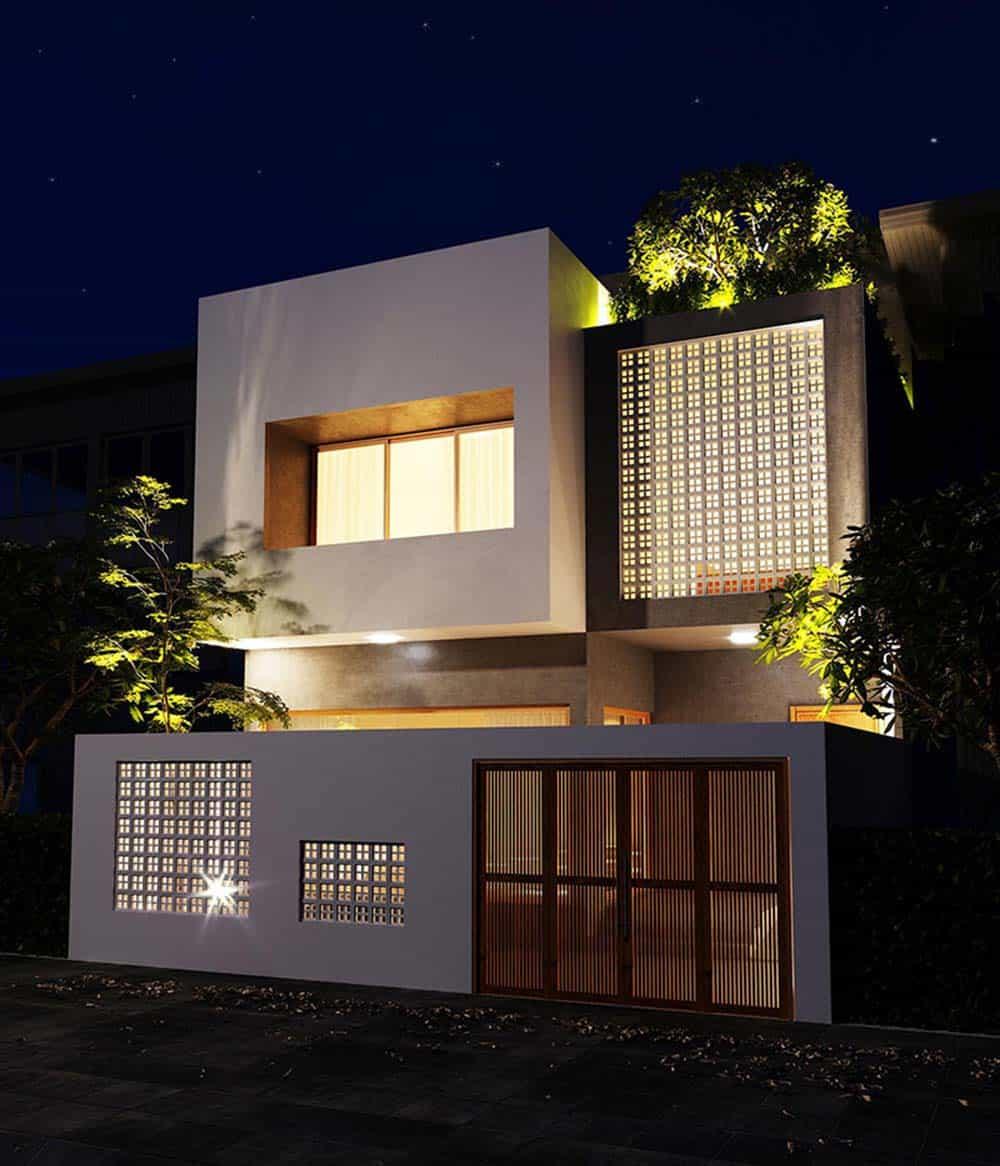 Thiết kế nhà 2 tầng 7x11m siêu tinh tế và hợp phong thủy
