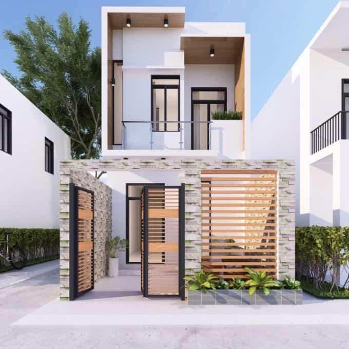 Phong cách thiết kế mở kết hợp vật liệu hiện đại ấn tượng