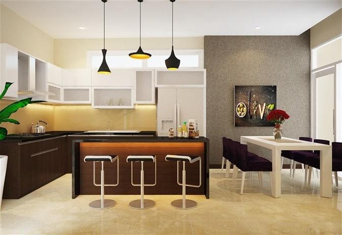 Thiết kế nhà ống 4,5x20m phòng bếp