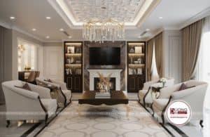 Phòng khách tân cổ điển với nội thất cao cấp nhất