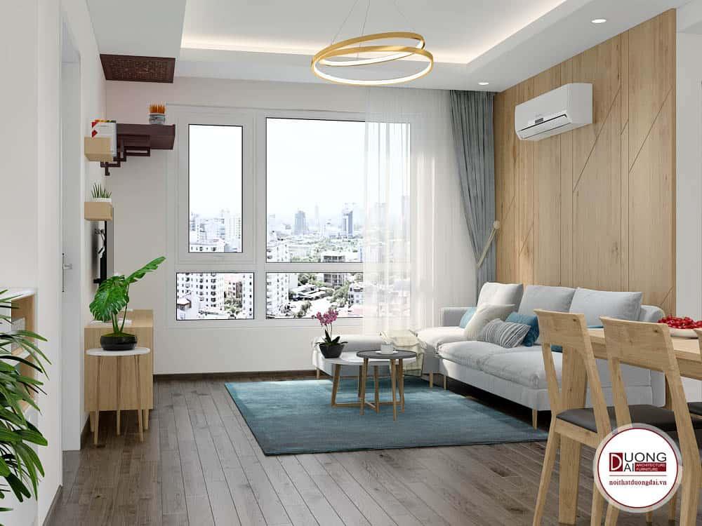 Thiết kế nội thất căn hộ 65m2 2 phòng ngủ hiện đại nhất