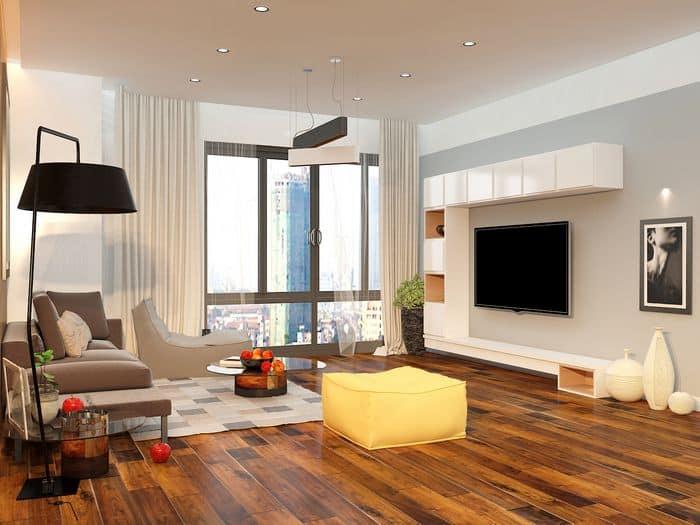thiết kế nội thất căn hộ chung cư 75m2
