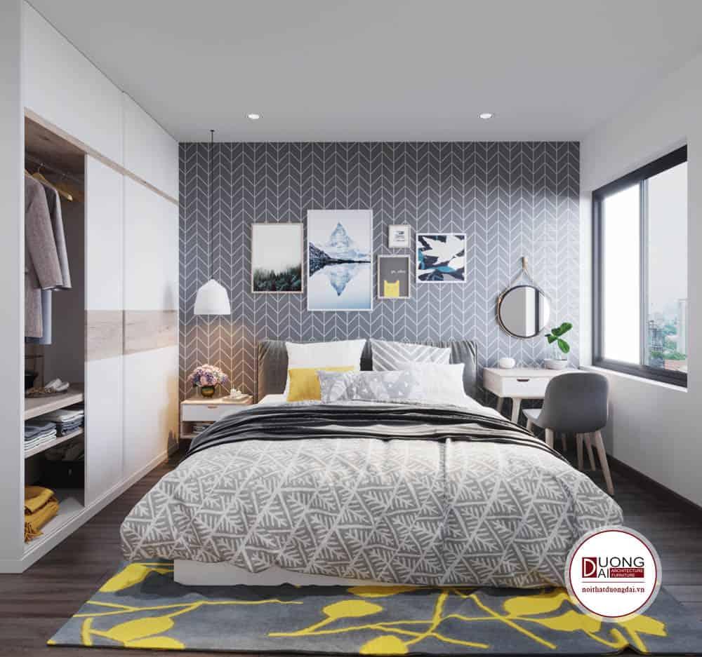 Phòng ngủ nhỏ xinh theo phong cách dịu dàng