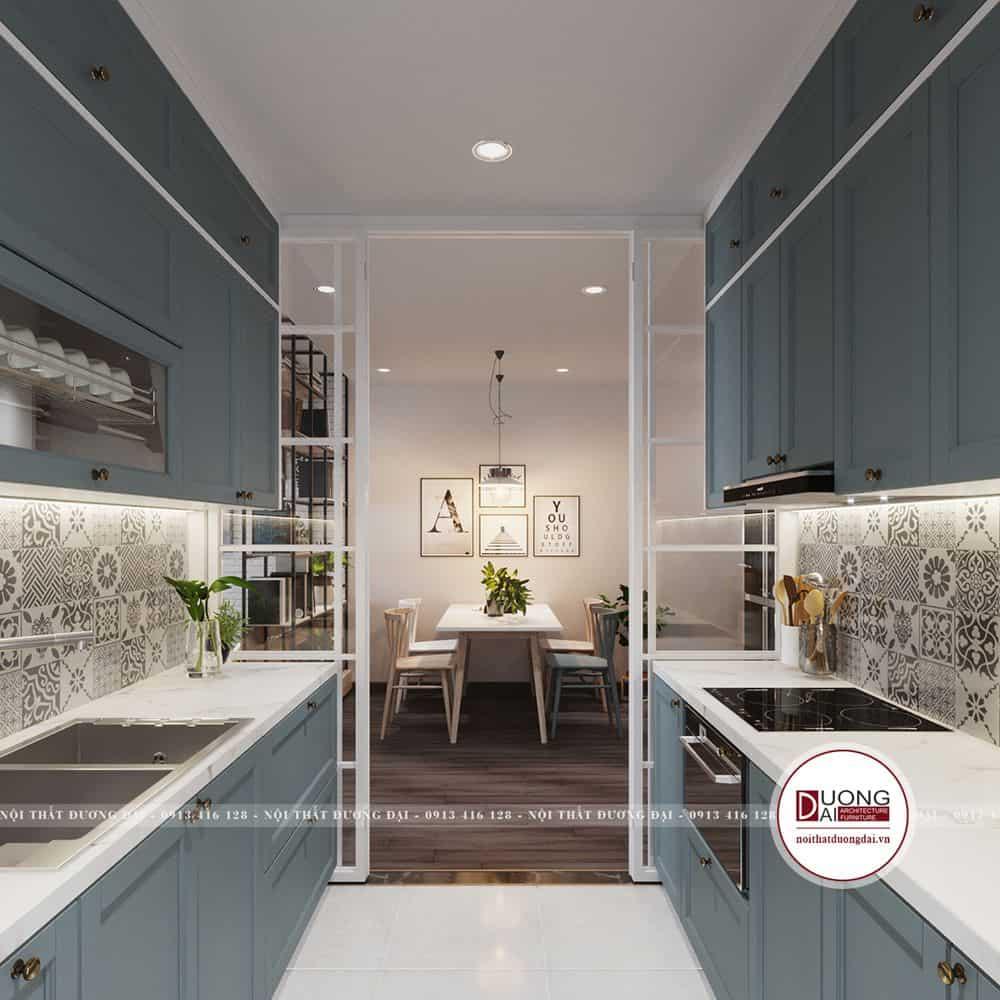 Tủ bếp sẽ tối ưu diện tích phòng bếp chật hẹp