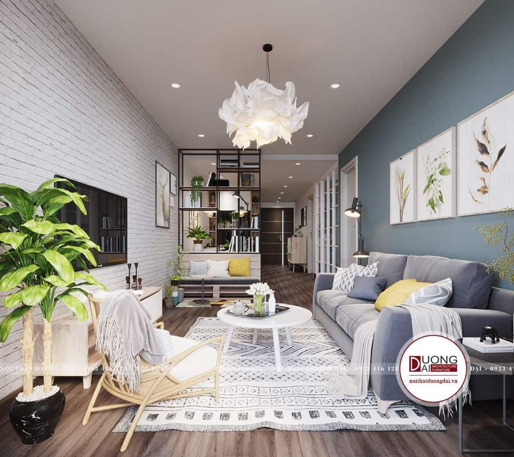 Thiết kế phòng khách phong cách Scandinavian đơn giản trang nhã
