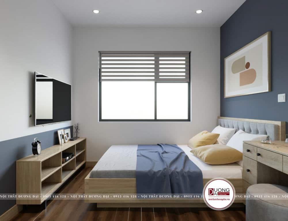 Phòng ngủ nhỏ nhưng được bài trí rất tiện nghi