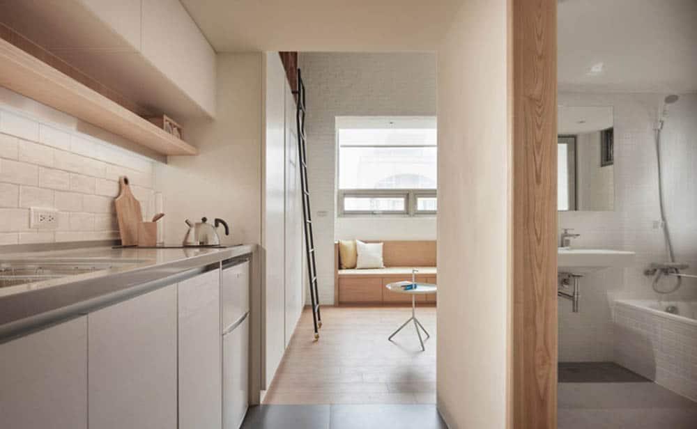 Phòng bếp nhỏ đầy tiện nghi và sang trọng