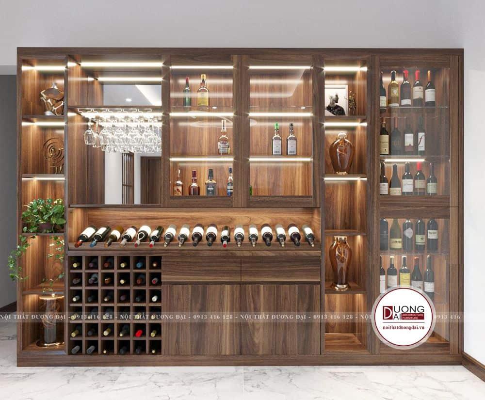 Tủ rượu sang trọng và xa hoa của thiết kế nội thất Bắc Ninh