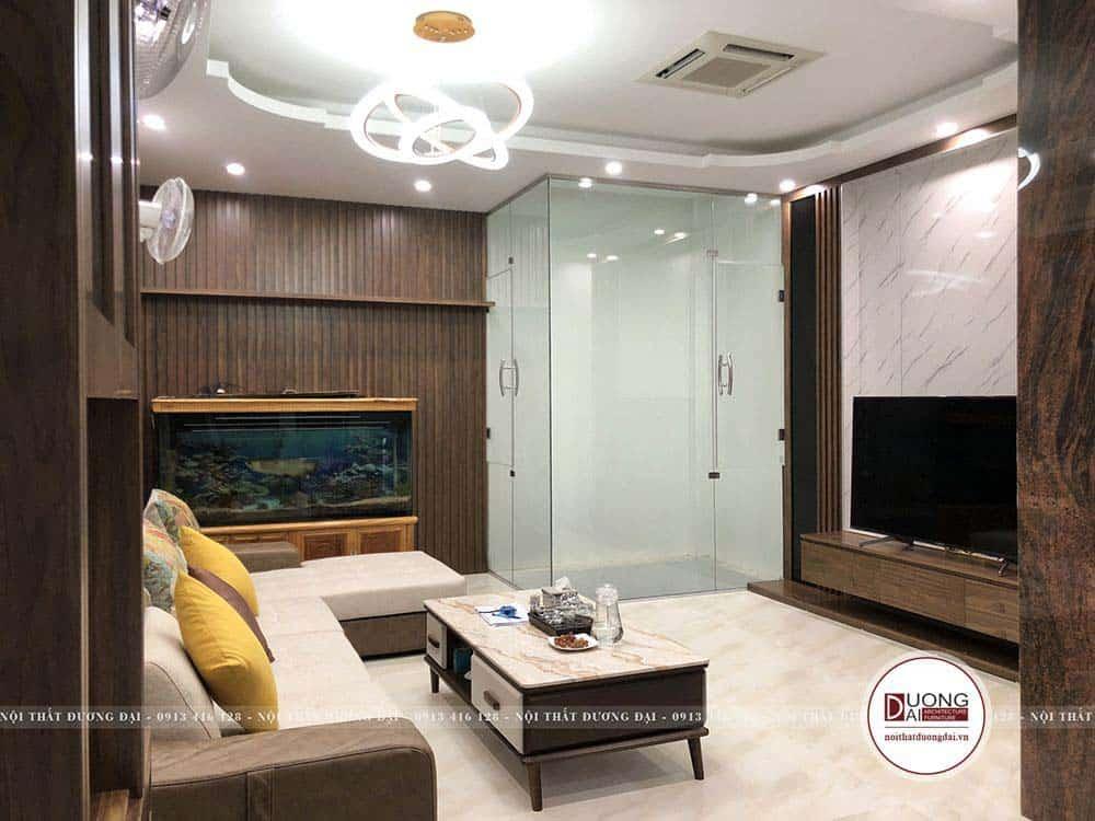 Thiết kế phòng khách sang trọng và ấn tượng