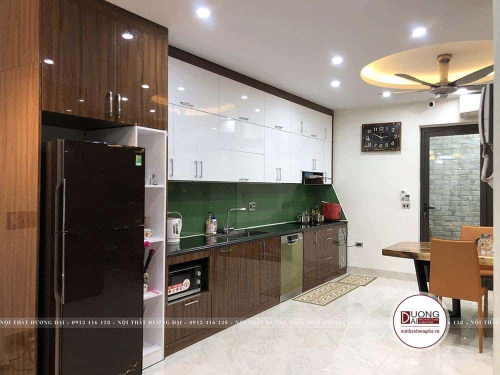 Tủ bếp MDF phủ Acrylic cao cấp và sang trọng
