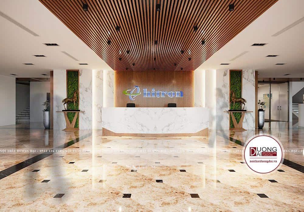 Thiết Kế Văn Phòng 400m2  CĐT: Công ty Hitron Hải Phòng