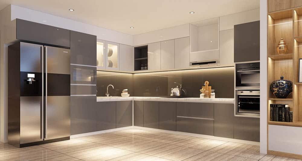 Tủ bếp được thiết kế và thi công siêu đẹp
