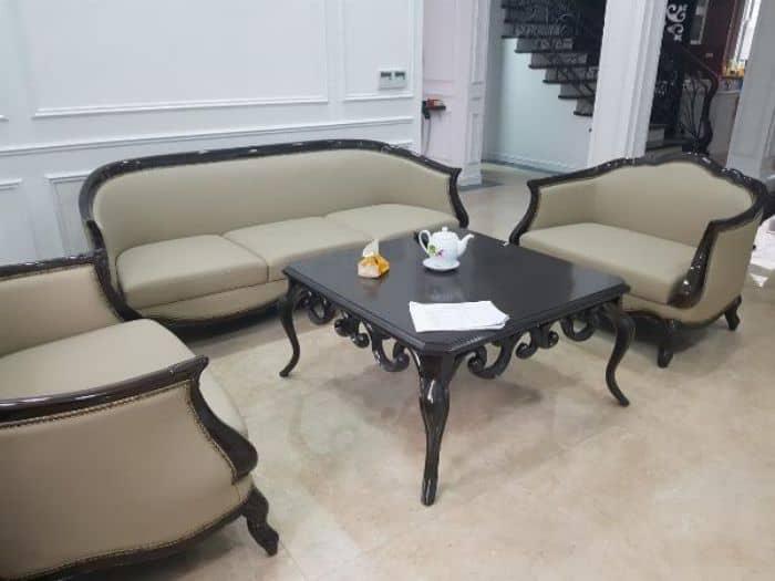 Bộ Bàn Ghế Sofa Da Phòng Khách | Bàn Giao Cho Chị Hoa Ở Phú Thọ