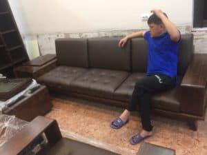 Bộ Sofa Gỗ Óc Chó | Bàn Giao Chú Văn Ở Bắc Ninh