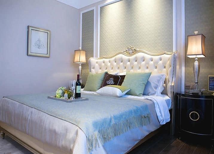 Phòng ngủ tân cổ đã hoàn thiện thi công với nét đẹp hoàn mỹ