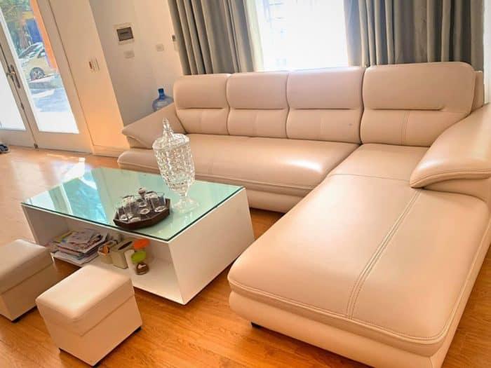 Sofa Bọc Da Cao Cấp | Bàn Giao Cho Cô Thủy Ở Hải Phòng