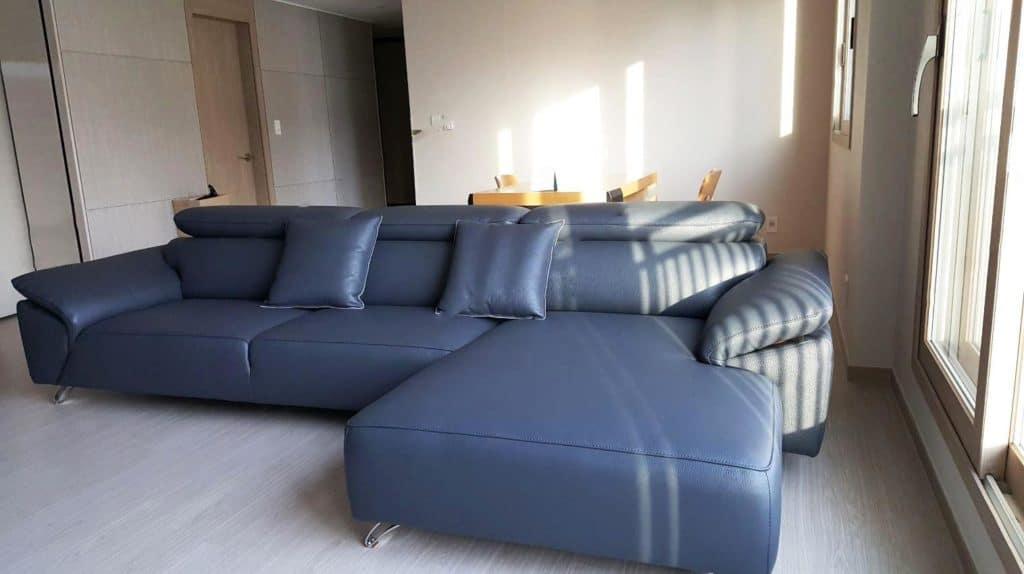 Sofa Da Màu Xanh | Bàn Giao Cho Chú Trung Ở Bắc Giang