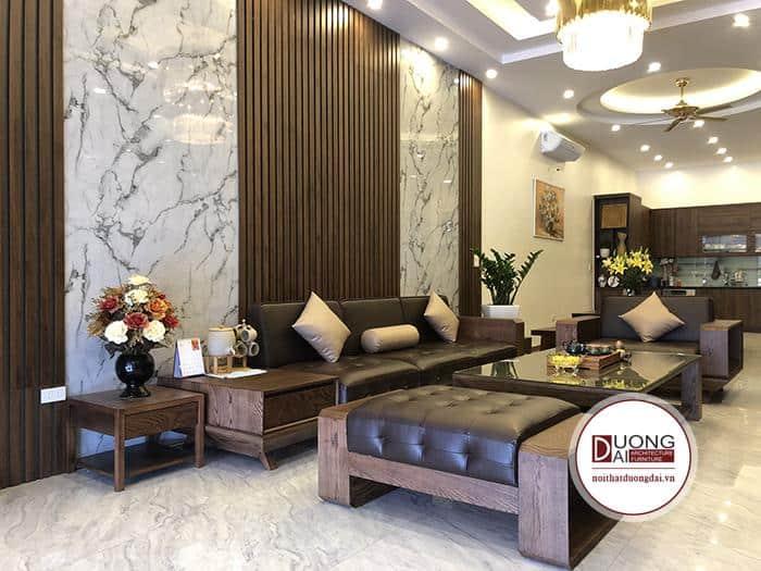 Báo giá sofa phòng khách gỗ tự nhiên