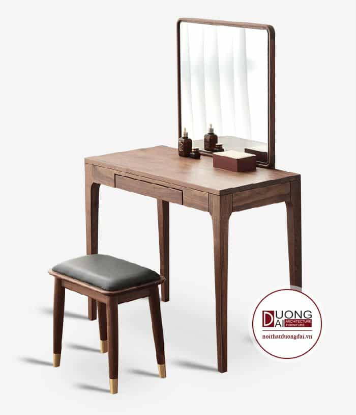 Thiết kế kết hợp với ghế đẩu bọc da