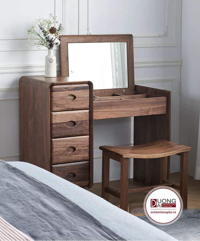 Thiết kế bàn nhỏ gọn đặt ở góc phòng ngủ