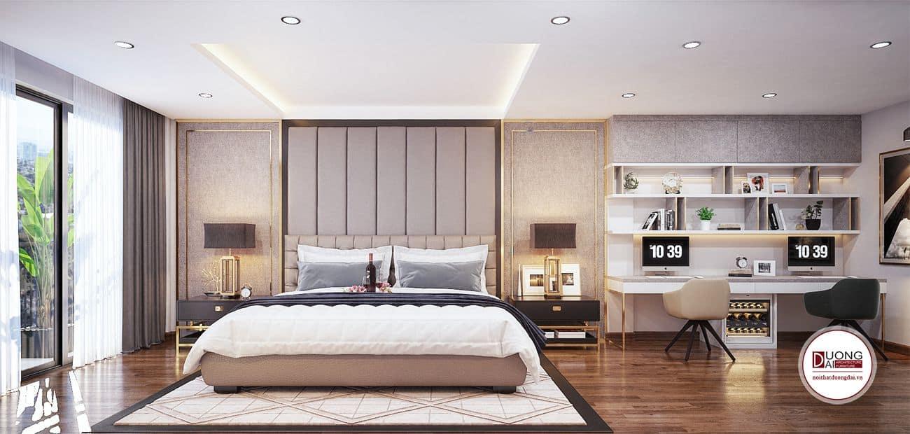 Xu hướng thiết kế phòng ngủ chung cư rộng có không gian mở